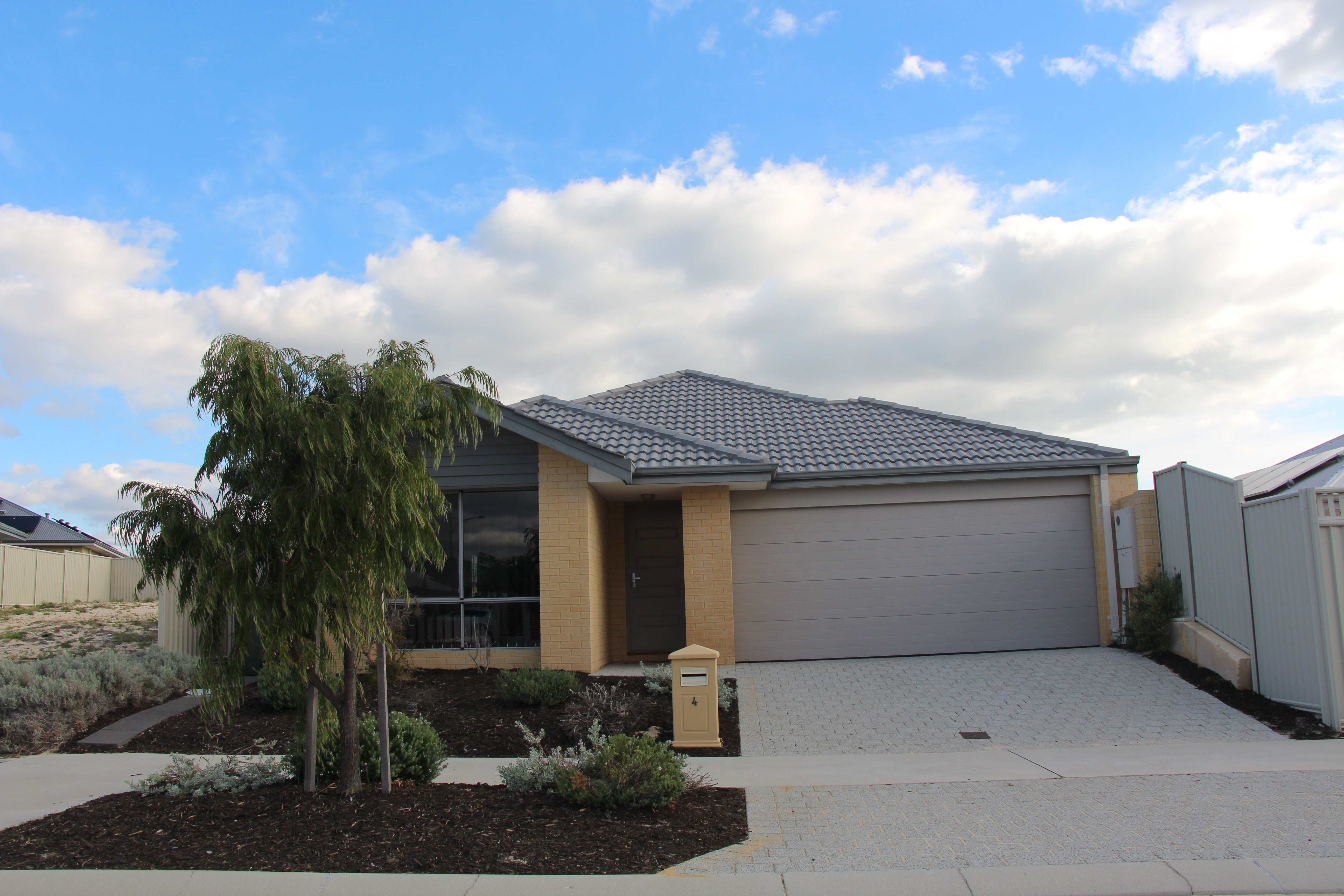 Family home with ducted air conditioning and solar panels.